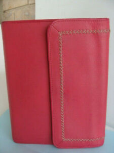 Classic 7 Rings Franklin Covey Jean Chatzky Pink Leather Planner Binder Snap