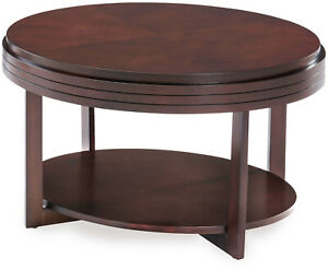 Oval Condo Apartment Coffee Table Home Vintage Mid Century Modern Round Shelf