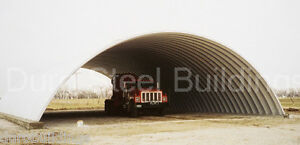 Durospan Steel 42x40x17 Metal Quonset Arch Building Kit Open Ends Factory Direct