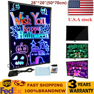 28 20 Flashing Illuminated Erasable Neon Led Message Menu Sign Writing Boards