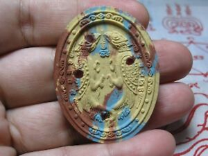 Phra Kruba Krissana Salika Thep Jumlang Powerful Magic Charm Thai Amulet 001