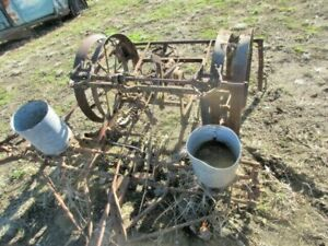 2 Two Row Horse Drawn Steel Wheel Planters Parts Only Yard Art