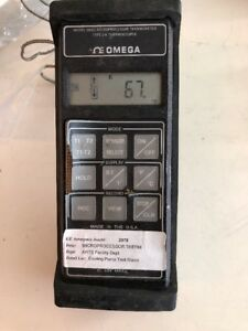 Omega Hh22 Microprocessor Thermometer Type J K Thermocouple With Probe