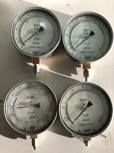 Lot Of 4 Wika Air Or Gas Test Gauge 0 100