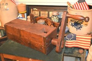 Museum Quality 1700 1800 S Best Primitive Hand Made Wood Sausage Meat Grinder
