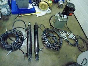 New England Hydraulics Hydraulic Unit With Two Cylinders Pistons Piston