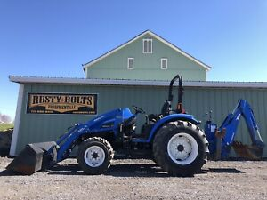 New Holland Tc40d 4x4 Tractor Loader Backhoe hydro Low Cost Shippping