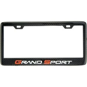 Show Quality Carbon Fiber Chevrolet Grand Sport Corvette License Plate Frame C6