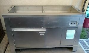Vollrath 5 Ft Refrigerated Food Station Salad Bar Buffet Ice Bath Mobile Cart