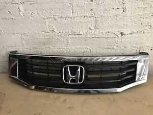 2008 2009 2010 Honda Accord Chrome Black Front Bumper Grille Oem 71120ta5a000