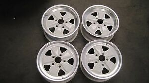 Porsche Fuchs Wheels 911 Original Wheels 16 X 6 16 X 7 Rare Grand Prix White