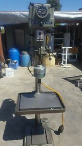Clausing Varable Speed Drill Press Model 1771 With Jarvis Tapping Head 3 4 Hp