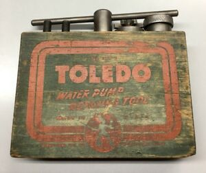 Model A Ford Water Pump Refacing Tool Toledo Pft 2 Man Cave Garage Deco