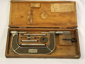 Lufkin No 824a 1 To 4 Micrometer Set With Case