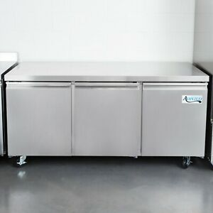 72 Stainless Steel 16 9 Cu Ft Undercounter Refrigerator With Casters 115v
