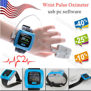 Oled Wrist Pulse Oximeter Spo2 Monitor 24h Daily Overnight Sleep pc Sw Ce Fda