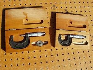 2 Scherr Tumico Outside Micrometers 1 2 With Boxes 0001