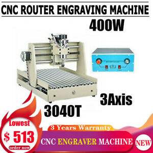 Cnc Router 3040 3 Axis Engraver Engraving Wood Drill Mill Machine 400w Vfd