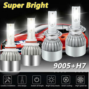 Combo 9005 H7 Led Headlight Kit 6000k Bulb For Mazda 3 2007 2009 Mazda 6 2011 13