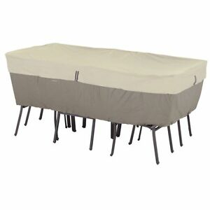 Belltown Outdoor Patio Table Set Cover Rectangular Oval Water Resistant Patio