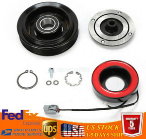 Ac Compressor Clutch Set Pulley Bearing Coil Plate Fit Honda Accord 03 07 2 4l