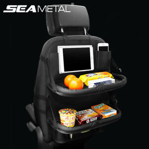 Car Back Seat Organizer Foldable Car Dining Table With Tablet Holder Pocket