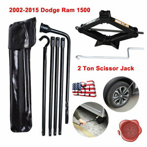 Spare Tire Lug Wrench Tool scissor Jack Replacement Kit For Dodge Ram 1500 02 15