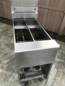 Pitco Gas Fryer Two Well used