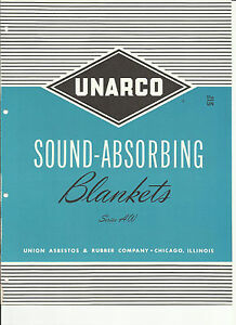 Union Asbestos Rubber Co Unarco 1950 s Catalog Packings Sound Blankets