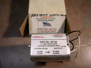 Valve 2 Way Electric Operator 50 Psi Capp usa Pt 287143
