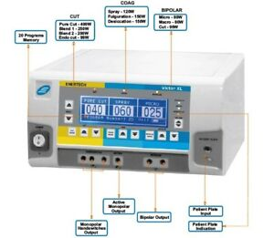 Professional Diathermy Electrosurgical Generator High Frequency Victor Unit