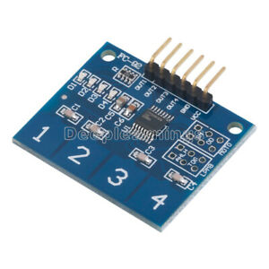 New Ttp224 4 Channel Digital Touch Sensor Module Capacitive Touch Switch Button