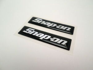 New Set Of 2 Snap On Vintage Tool Box Handle Decal Emblem Stickers