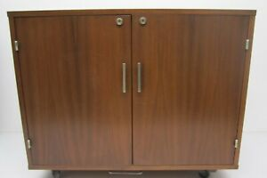 Vtg 1960s Mcm Springer Penguin Wooden Mini Bar Fridge Liquor Cabinet Norway