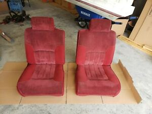 94 97 Dodge Ram 1500 2500 3500 Truck Front Seats Red Cloth Driver