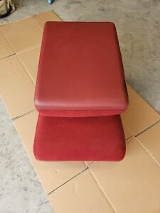 94 97 Dodge Ram 1500 2500 3500 Truck Front Center Jump Seat Console Red Cloth