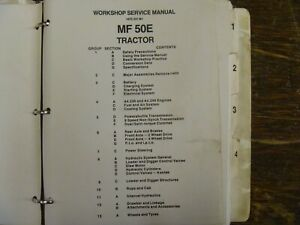 Massey Ferguson 50e Farm Tractor Workshop Shop Service Repair Manual
