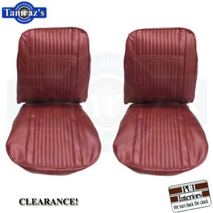 1966 Grand Prix Front Bucket Seat Upholstery Covers Metallic Red Pui Clearance