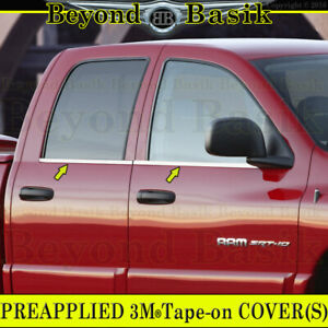 For 2004 2008 Dodge Ram 1500 4dr Quad Cab Stainless Steel Window Sill Covers