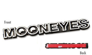 Moon Mooneyes Stick On Mini Emblem Chrome And Black Logo California Rod Hot A