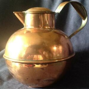 Vintage Guernsey Jersey Channel Islands Copper Milk Can Cover Kitchenalia A F