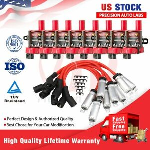 Ignition Coils Pack W Spark Plugs For Gmc Chevy D585 4 8 5 3 6 0l 748uu Uf 262