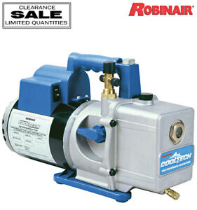Robinair 15600 High Performance 6 Cfm Vacuum Pump 1 2 Hp 13 Oz Oil Capacity