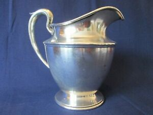 Water Pitcher Vintage F S Sterling 925 Silver Classic Handle Lovely
