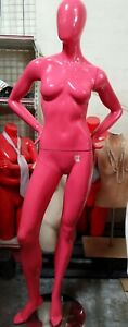 Used Mn bc Hot Pink Semi Glossy Female Mannequin b Local Pickup Los Angeles