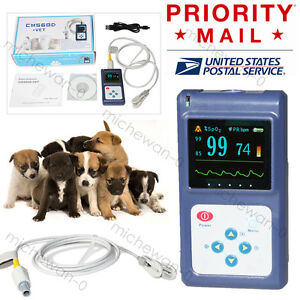 Spo2 Vet Animal Pulse Oximeter Blood Oxygen Oled Hr Monitor Usb Pc Sw New