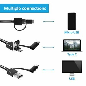 3 in 1 Usb Microscope 1000x Endoscope Zoom Camera Magnifier With 8 Led Rt