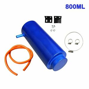 800ml Radiator Coolant Aluminum Catch Tank Overflow Reservoir Universal Blue New