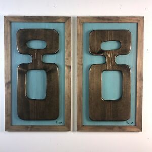 Witco Inspired Mid Century Modern Tiki Kitsch Wood Wall Art