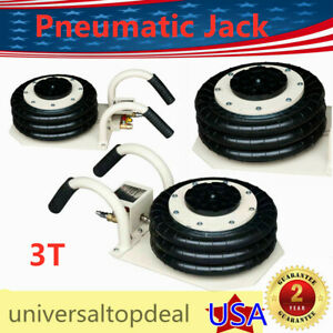 6600 Lbs Triple Bag Air Jack 3 Ton Air Jack Pneumatic Air Bag Jack Max 6 8 18